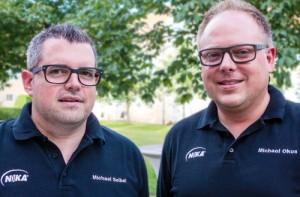 Michel Seibel und Michael Okos bilden das neue Führungsduo bei NIKA.