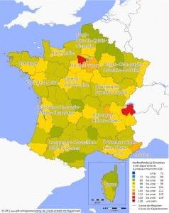 GfK Kaufkraft Frankreich 2016