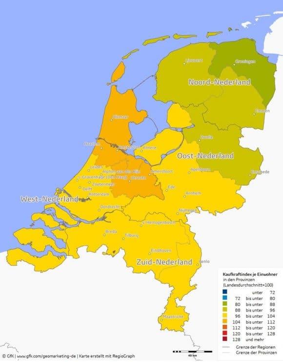 GfK Kaufkraft Niederlande 2016