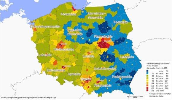GfK Kaufkraft Polen 2016