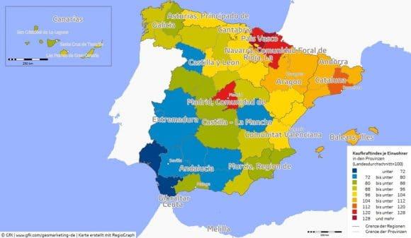 GfK Kaufkraft Spanien 2016