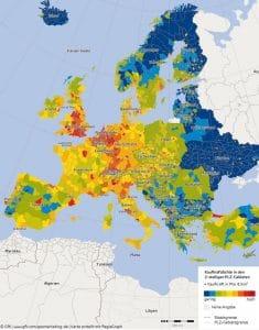 GfK_Kaufkraftdichte Europa 2016