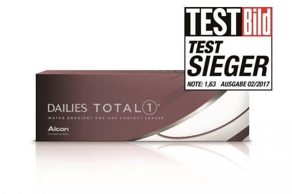 DAILIES TOTAL1® Ein-Tages-Kontaktlinsen , testbild, Testsieger