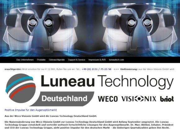 Luneau Technology Deutschland_Weco Visionix_website