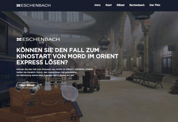 Eschenbach: Mord im Orient Express - Aktions-Website