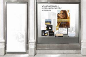 Rodenstock: Schaufenster-Deko zur neune Herbst-Kampagne - Gleitsichtgläser