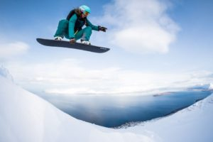 Julbo White Session 2017: Manu beim Snowboarding