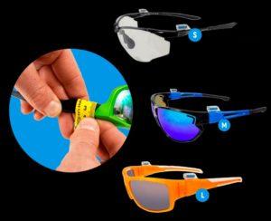 StiQx - Magnethalterung für Sportbrille in verschiedenen Größen