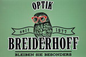 eyebizz: Optik Breiderhoff - Logo mit Eule
