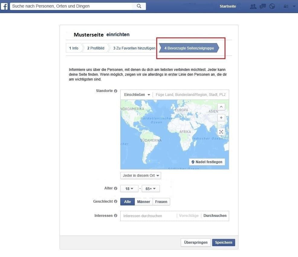 Facebook bietet zahlreiche Optionen Ihre Zielgruppe zu definieren