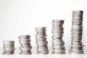 Geldstücke Zunahme