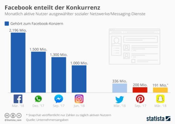 Statista-Infografik: Nutzer sozialer Netzwerke