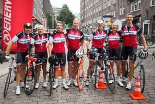 Harbour: Boris Pietron mit seinem Radsport-Team