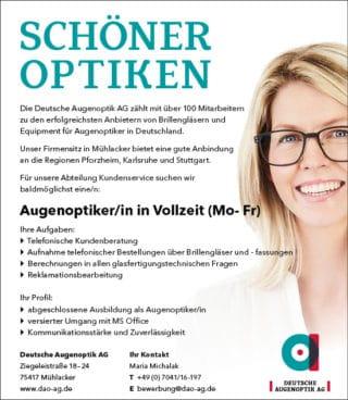 Augenoptiker gesucht!