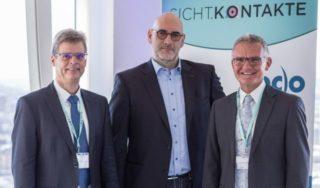 ZVA: Tag der Optometrie - die Verbandsvorsitzenden Truckenbrod, Hirschfeld und Stollenwerk