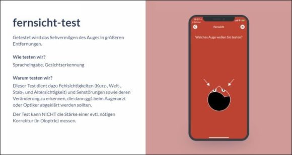 LooC App: Test Fernsicht