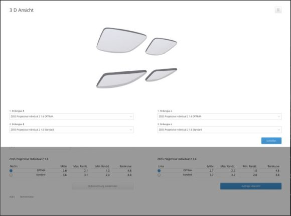 Zeiss: Screenshot Visustore