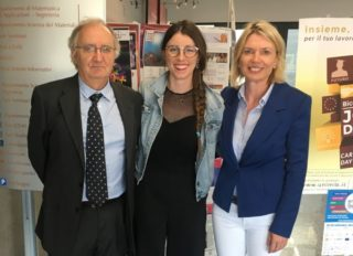 Prof. Dr. Antonio Papagni (Uni Mailand-Biococca), Sara Peloso und Prof. Dr. Anna Nagl (Hochschule Aalen)