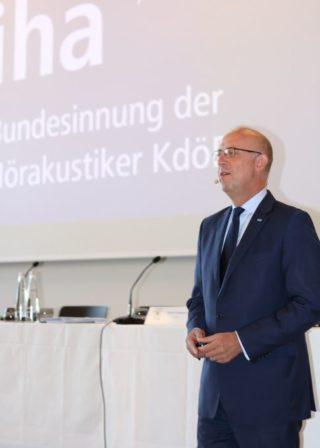 ZVA: Obermeistertagung 2018 - Jakob Stephan Baschab von der Bundesinnung der Hörakustiker