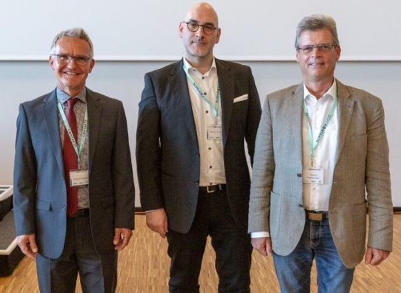 Tag der Optometrie 2018: die Verbands-Vorsitzende Georg Stollerwerk, Stephan Hirschfeld und Thomas Truckenbrod