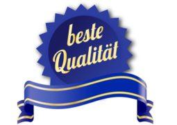 Siegel für Qualität