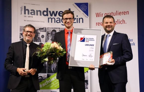 Augenoptiker Arne Engler - Preisverleihung Top-Gründer 2018