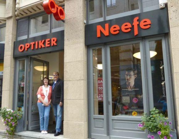 Optiker Neefe - das Ehepaar Andrea und Thomas Neefe