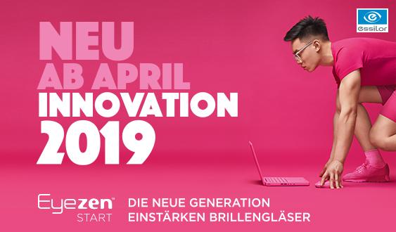 eyezen ab April, die Innovation 2019 von Essilor