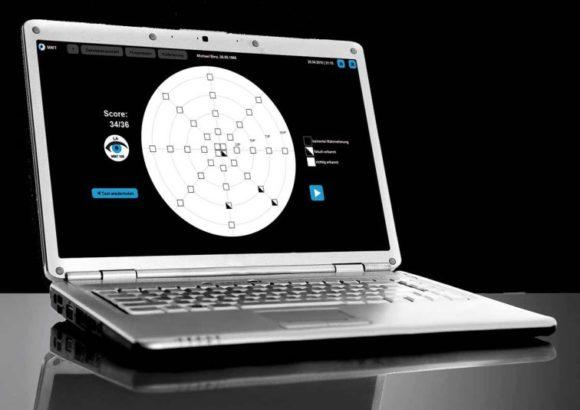 Macular Mapping Test für AMD - Computer mit MMT