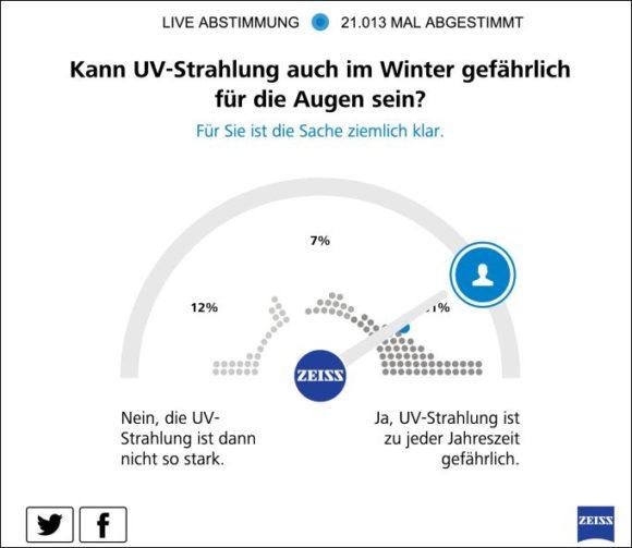 Zeiss Umfrage UV-Schutz - Grafik 4