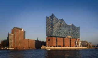 Hamburg mit der Elbphilarmonie