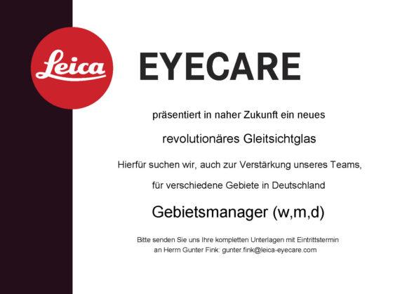 Leica sucht Gebietsmanager