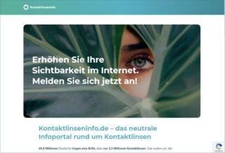 Spectaris Kampagnenseite Kontaktlinsen