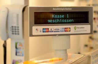 Zahlungsarten - Kassenterminal