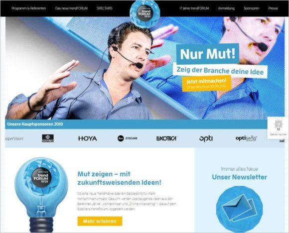 Spectaris Trendforum - Website