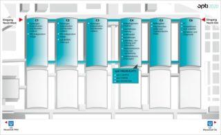 opti 2020 - Hallen-Aufteilung