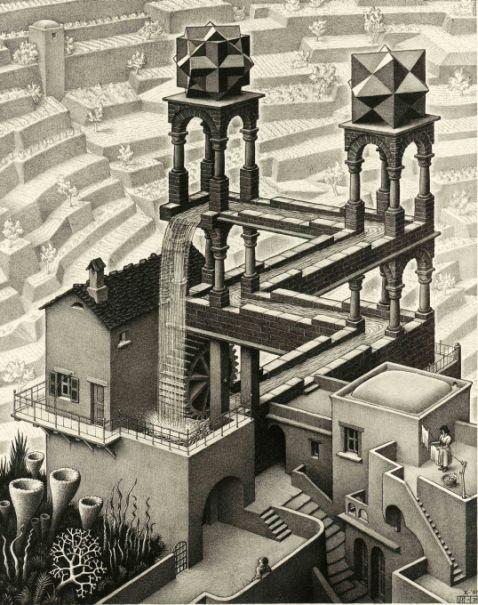 M.C. Escher - waterval