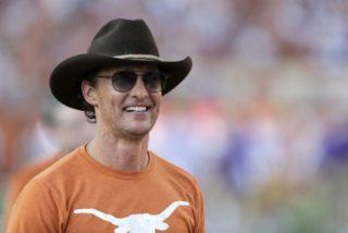 Matthew McConaughey wearing Blackfin glasses - Getty Images