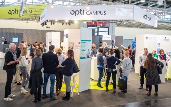 Der opti-Campus in Halle C4, hier von 2019