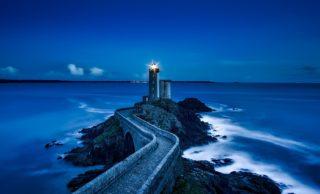 Farbe Blau - Leuchtturm plouzane