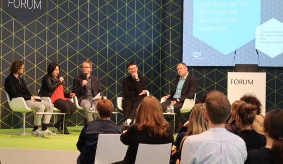 eyebizz - opti-Forum 2020 - Start-ups Augenoptik - Podium