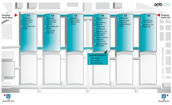opti 2020 - Hallen von C1 bis C6