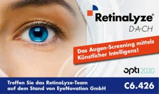 Retinalyze auf der opti Stand C6.426