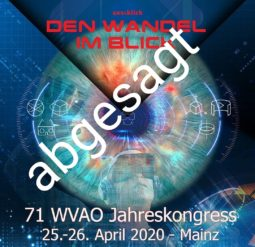 WVAO - Kongress 2020 Absage