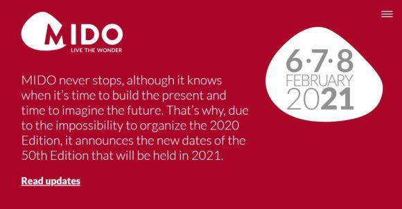 Mido - neuer Termin - Ausgabe 50 in 2021