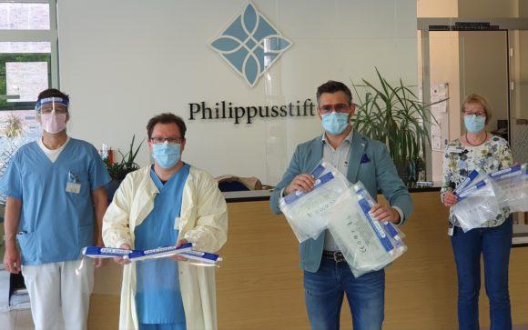 Philippusstift Essen-Borbeck- Spende von Optik Breiderhoff