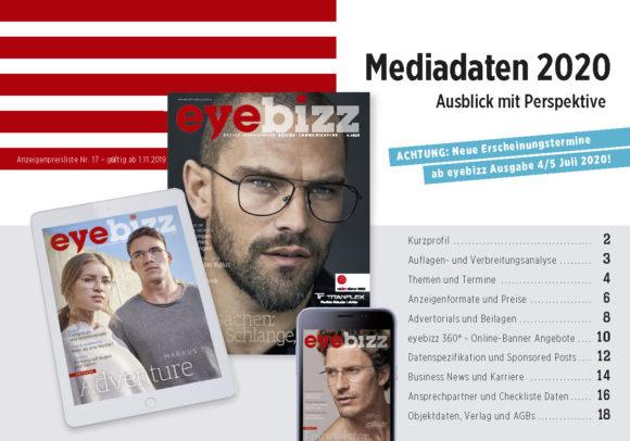 eyebizz Mediadaten 2020 mit neuen Terminen