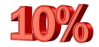 Minus 10 Prozent