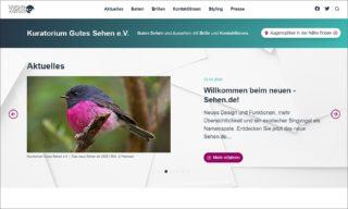 Sehen.de - Relaunch der Website vom KGS