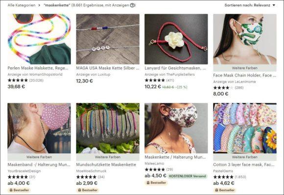 Brillenkette Maskenkette - Etsy Auswahl